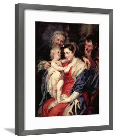 The Holy Family with St. Anne, 1639-Peter Paul Rubens-Framed Art Print