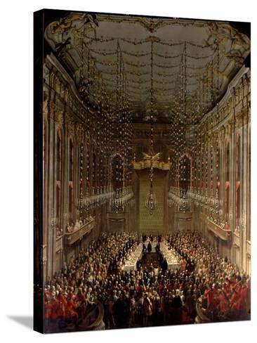 Banquet in the Redoutensaal, Vienna, 1760-Martin II Mytens/ Meytens-Stretched Canvas Print