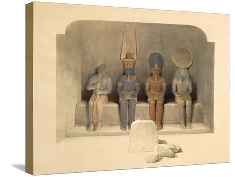 Sanctuary of the Temple of Abu Simbel, from Egypt and Nubia, Vol.1-David Roberts-Stretched Canvas Print
