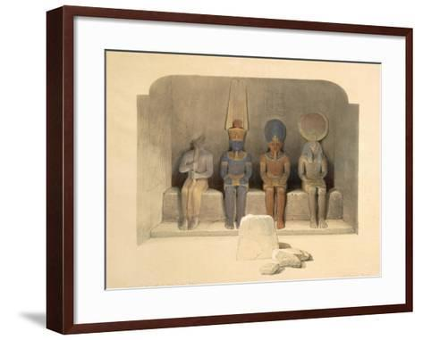 Sanctuary of the Temple of Abu Simbel, from Egypt and Nubia, Vol.1-David Roberts-Framed Art Print