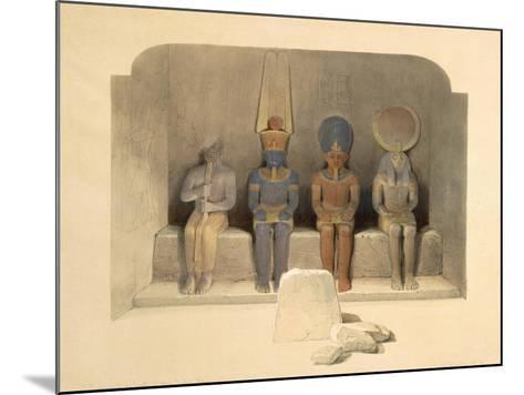 Sanctuary of the Temple of Abu Simbel, from Egypt and Nubia, Vol.1-David Roberts-Mounted Giclee Print