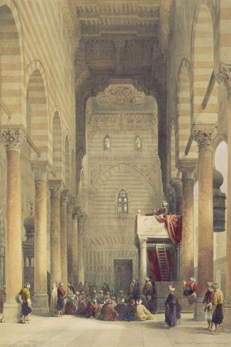 Interior of the Mosque of the Metwalys, Cairo, from Egypt and Nubia, Vol.3-David Roberts-Stretched Canvas Print