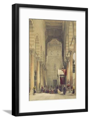 Interior of the Mosque of the Metwalys, Cairo, from Egypt and Nubia, Vol.3-David Roberts-Framed Art Print