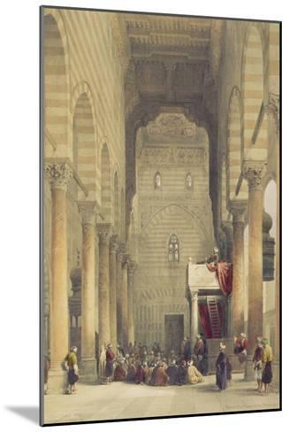 Interior of the Mosque of the Metwalys, Cairo, from Egypt and Nubia, Vol.3-David Roberts-Mounted Giclee Print