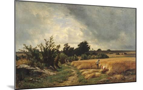 The Plateau of Ormesson - a Path Through the Corn-Francois Louis Francais-Mounted Giclee Print