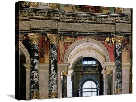 Interior of Kunsthistorisches Museum, Vienna, Figures of Ancient Greece and Ancient Egypt-Gustav Klimt-Stretched Canvas Print