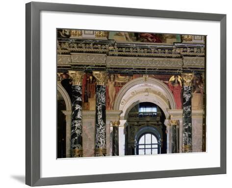 Interior of Kunsthistorisches Museum, Vienna, Figures of Ancient Greece and Ancient Egypt-Gustav Klimt-Framed Art Print