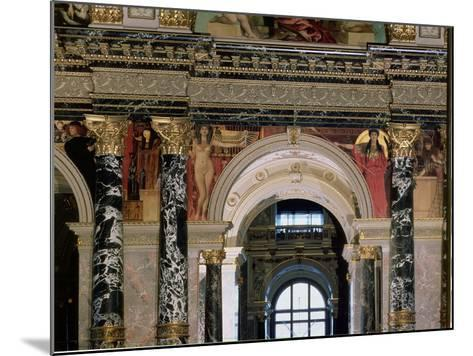 Interior of Kunsthistorisches Museum, Vienna, Figures of Ancient Greece and Ancient Egypt-Gustav Klimt-Mounted Giclee Print
