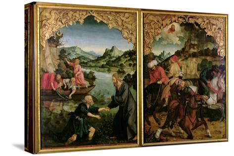 Stories of S.S. Peter and Paul Altarpiece: Vocation of St. Peter, Conversion of St. Paul-Hans Von Kulmbach-Stretched Canvas Print