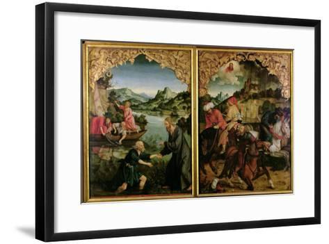 Stories of S.S. Peter and Paul Altarpiece: Vocation of St. Peter, Conversion of St. Paul-Hans Von Kulmbach-Framed Art Print