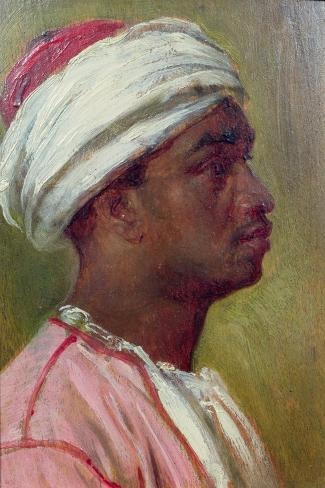 Study of a Nubian Young Man-Frederick Leighton-Stretched Canvas Print