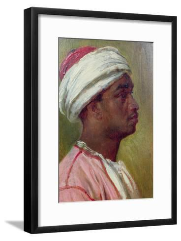 Study of a Nubian Young Man-Frederick Leighton-Framed Art Print