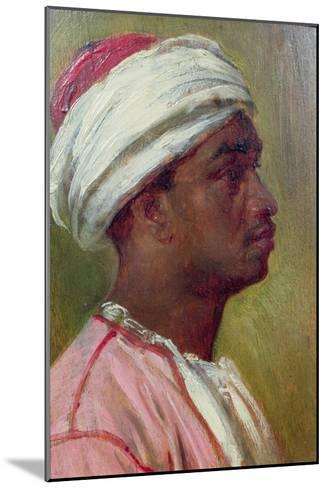 Study of a Nubian Young Man-Frederick Leighton-Mounted Giclee Print