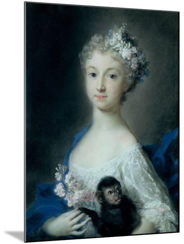 Girl Holding a Monkey-Carriera Rosalba-Mounted Giclee Print
