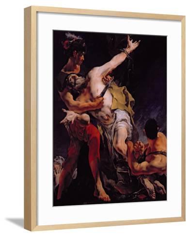 The Martyrdom of St. Bartholomew, 1722-Giovanni Battista Tiepolo-Framed Art Print