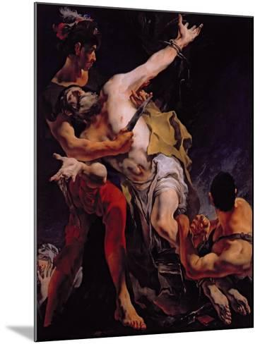 The Martyrdom of St. Bartholomew, 1722-Giovanni Battista Tiepolo-Mounted Giclee Print