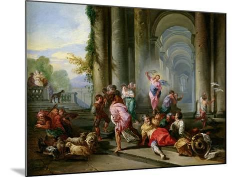 Christ Driving the Merchants from the Temple, c.1720-30-Giovanni Paolo Pannini-Mounted Giclee Print