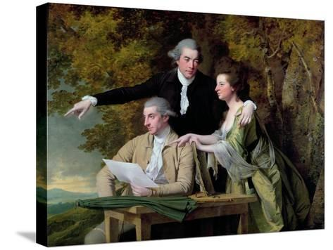 The Rev. D'Ewes Coke, His Wife Hannah and Daniel Parker Coke, M.P., c.1780-82-Joseph Wright of Derby-Stretched Canvas Print