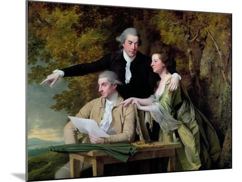 The Rev. D'Ewes Coke, His Wife Hannah and Daniel Parker Coke, M.P., c.1780-82-Joseph Wright of Derby-Mounted Giclee Print