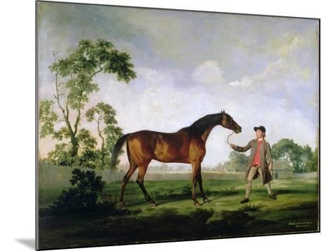 """The Duke of Ancaster's Bay Stallion """"Spectator"""", Held by a Groom, c.1762-5-George Stubbs-Mounted Giclee Print"""