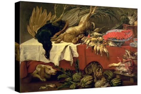 Still Life with Game and Lobster, c.1610-Frans Snyders Or Snijders-Stretched Canvas Print