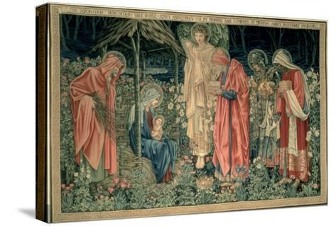 The Adoration of the Magi, Made by William Morris and Co., Merton Abbey-Burne-Jones & Morris-Stretched Canvas Print