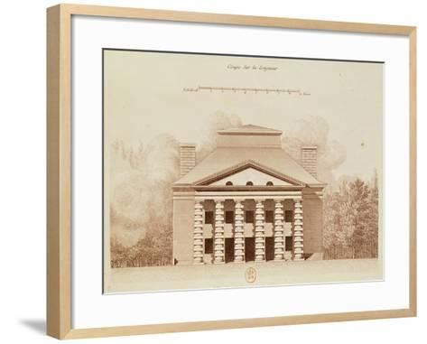 House of the Director of the Salt Works in the Ideal City of Chaux, Engraved by Louis Sellier-Claude Nicolas Ledoux-Framed Art Print