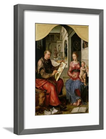 St. Luke Painting the Virgin, c.1545-Maerten van Heemskerck-Framed Art Print