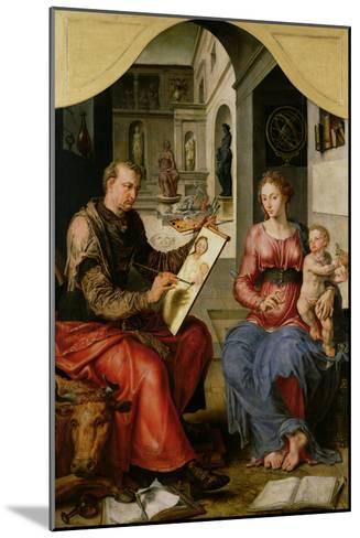 St. Luke Painting the Virgin, c.1545-Maerten van Heemskerck-Mounted Giclee Print