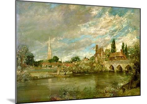 The Bridge of Harnham and Salisbury Cathedral, c.1820-John Constable-Mounted Giclee Print