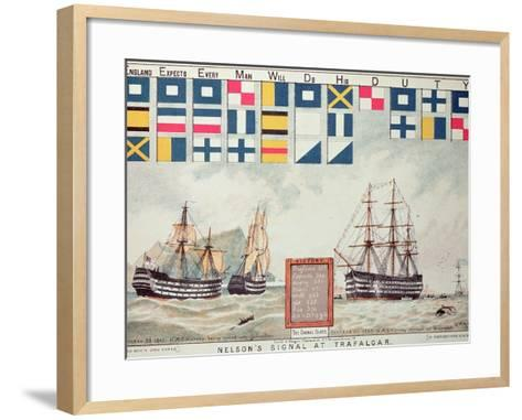 Nelson's Signal at Trafalgar, 1805, 'The Boy's Own Paper' Commemorate Hms Victory, Portsmouth, 1885-Walter William May-Framed Art Print