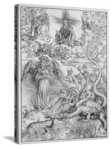 Apocalyptical Scene, from the Apocalypse or The Revelations of St. John the Divine, Pub. 1498-Albrecht D?rer-Stretched Canvas Print