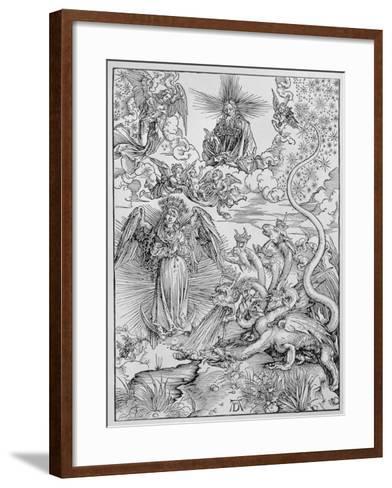 Apocalyptical Scene, from the Apocalypse or The Revelations of St. John the Divine, Pub. 1498-Albrecht D?rer-Framed Art Print