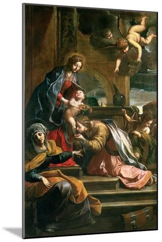 The Mystic Marriage of St. Catherine-Alessandro Tiarini-Mounted Giclee Print