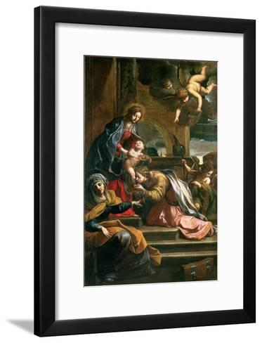 The Mystic Marriage of St. Catherine-Alessandro Tiarini-Framed Art Print