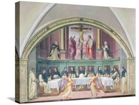 The Supper of St. Dominic, Lunette-Giovanni Antonio Sogliani-Stretched Canvas Print