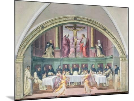 The Supper of St. Dominic, Lunette-Giovanni Antonio Sogliani-Mounted Giclee Print