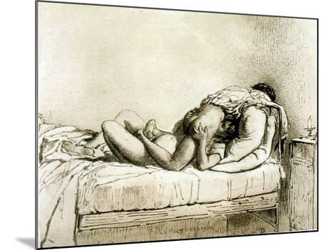 Couple Having Sex, Plate 27 from Liebe-Mihaly von Zichy-Mounted Giclee Print