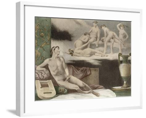 Ancient Times, Plate Xi from De Figuris Veneris by F.K Forberg, Engraved by Artist, 1900-Edouard-henri Avril-Framed Art Print