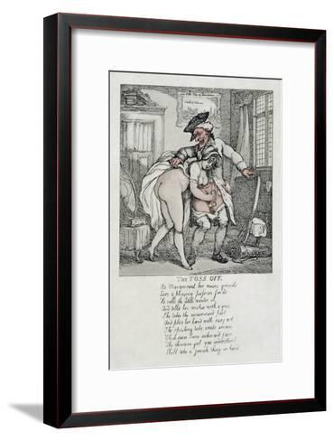 The Toss Off, Poem and Illustrations, 1808-1817-Thomas Rowlandson-Framed Art Print