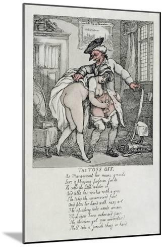 The Toss Off, Poem and Illustrations, 1808-1817-Thomas Rowlandson-Mounted Giclee Print