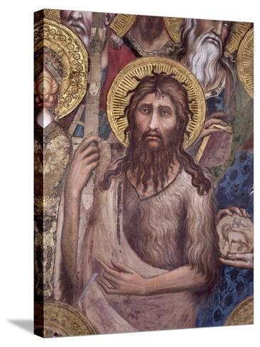 Maesta: St. John the Baptist, 1315-Simone Martini-Stretched Canvas Print