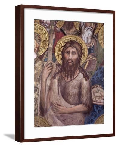 Maesta: St. John the Baptist, 1315-Simone Martini-Framed Art Print