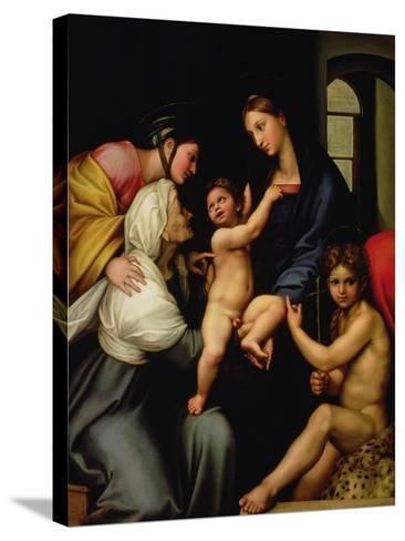 Madonna Dell'Impannata-Raphael-Stretched Canvas Print