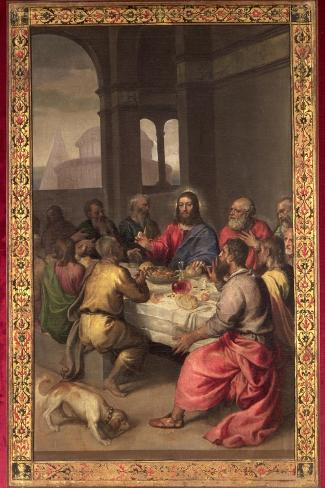The Last Supper-Titian (Tiziano Vecelli)-Stretched Canvas Print