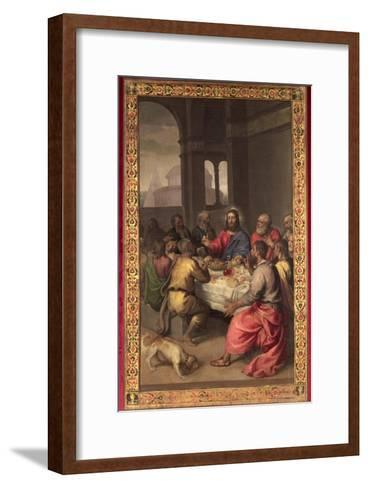 The Last Supper-Titian (Tiziano Vecelli)-Framed Art Print