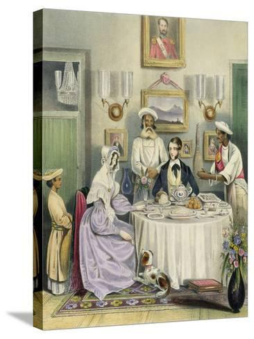 The Breakfast, Plate 3 from Anglo Indians, c.1842-William Tayler-Stretched Canvas Print