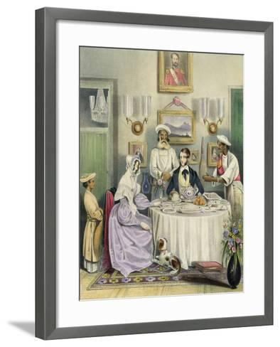 The Breakfast, Plate 3 from Anglo Indians, c.1842-William Tayler-Framed Art Print