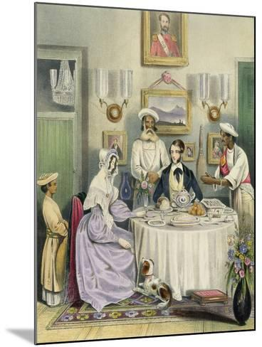 The Breakfast, Plate 3 from Anglo Indians, c.1842-William Tayler-Mounted Giclee Print