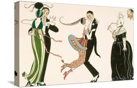Madness of the Day, Engraved by H. Reidel For Friends of the Journal Des Dames et Des Modes, 1913-Georges Barbier-Stretched Canvas Print